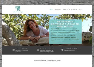 Página web La Casa del Árbol de Julia