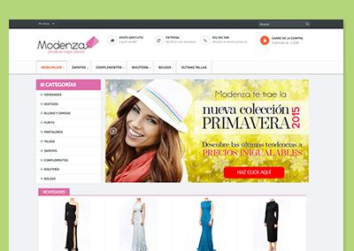Página Web Modenza